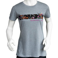 River City Bicycles Giro Women's Tech Tee - Grey / Purple