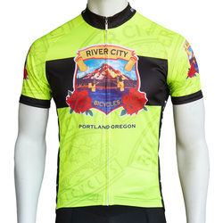 River City Bicycles RCB Heritage Jersey - Fluorescent