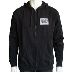 River City Bicycles Patch Hoodies - Black