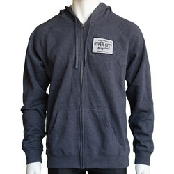 River City Bicycles Patch Hoodie - Midnight Heather