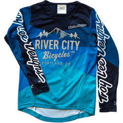 River City Bicycles Troy Lee Designs Sprint LS Youth Jersey - Blue