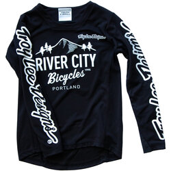 River City Bicycles Troy Lee Designs Sprint LS Youth Jersey - Black