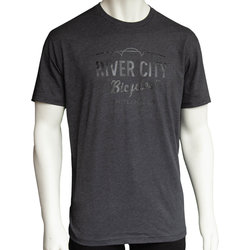 River City Bicycles Bridge Logo Men's Tee - Charcoal