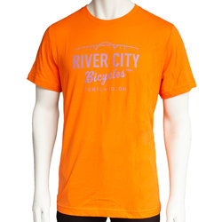 River City Bicycles Bridge Logo Men's Tee - Orange