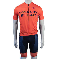 River City Bicycles Castelli Fluro Flanders Jersey, Short Sleeve