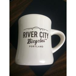 River City Bicycles RCB Diner Mug