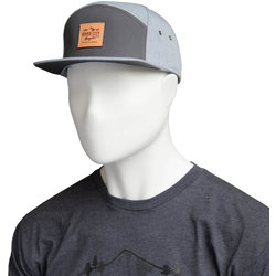 River City Bicycles Mountain Logo Leather Patch C57 Hat - Charcoal / H.Grey