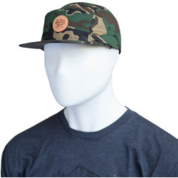 River City Bicycles Camo Leather Patch Hat