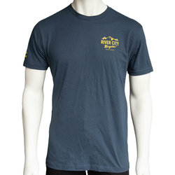 River City Bicycles Mountain Logo Men's Tee - Indigo