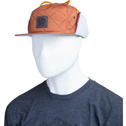 River City Bicycles Quilted Hat w/ Flaps - Rust