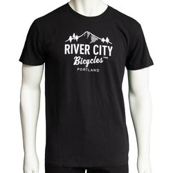 River City Bicycles Mountain Logo Men's Tee - Black