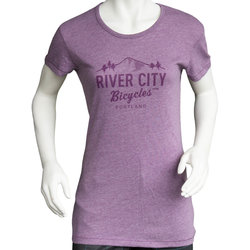 River City Bicycles Logo Women's Tee - Iris