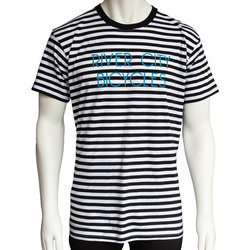 River City Bicycles Men's Stripe Tee - Black/White