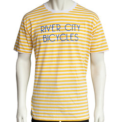 River City Bicycles Men's Stripe Tee