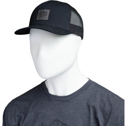 River City Bicycles Trucker Hat, Mountain Logo Patch - Black