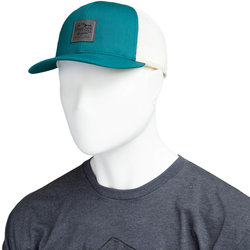River City Bicycles Trucker Hat, Mountain Logo Patch - Teal