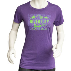 River City Bicycles Giro Tree Ring + logo Women's Tee - Purple