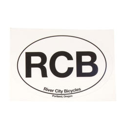 River City Bicycles RCB Oval Sticker