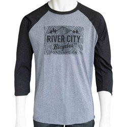 River City Bicycles Giro Tree Ring Logo Raglan Jersey
