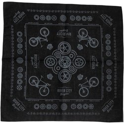 River City Bicycles RCB Bandana - Grey Ink