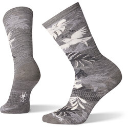 Smartwool Women's Parakeet Palm Crew Socks - Medium Gray