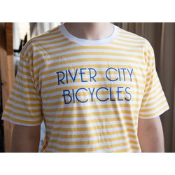 River City Bicycles Men's Stripe Tee