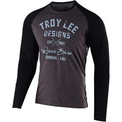 Troy Lee Designs Vintage Race Shop LS Tee - Charcoal