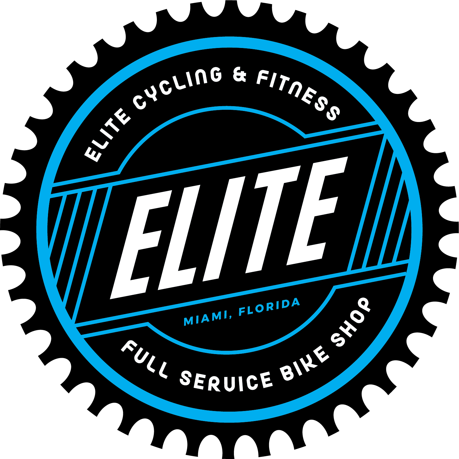 Elite Cycling & Fitness Bike Shop logo - link home page