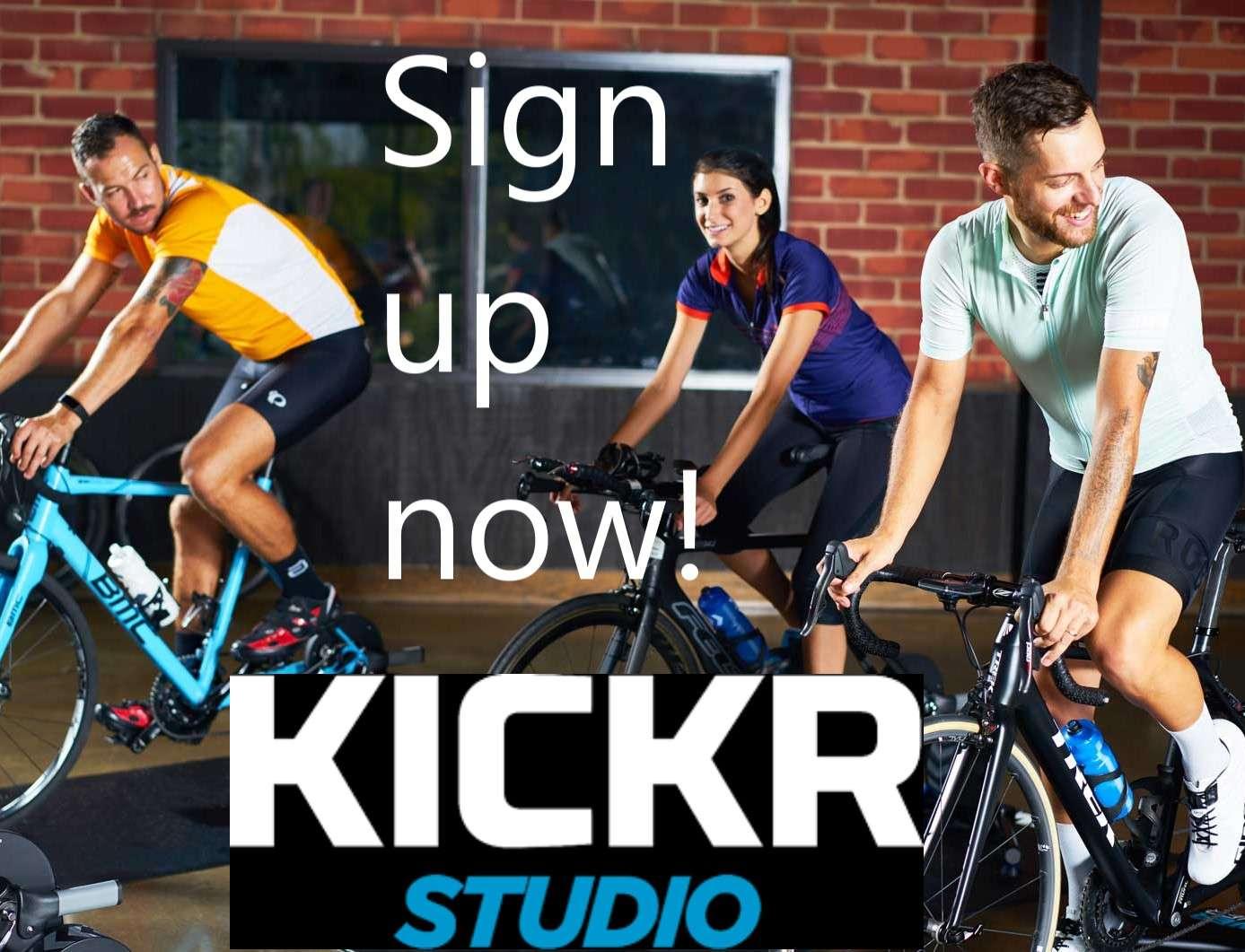 Sign up now! Kickr Studio
