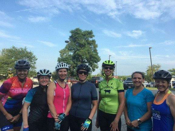 Group on the Gals and Gears Ride
