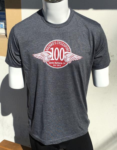 Hazard's Cyclesport Men's T 100 year design - Heather Charcoal