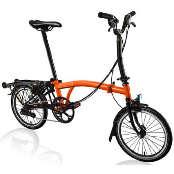 Brompton M-Type Black Edition | Orange | 6 Speed