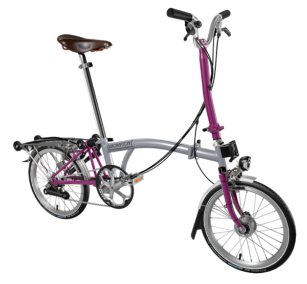 Brompton H-Type | Grey/Magenta | 6 Speed