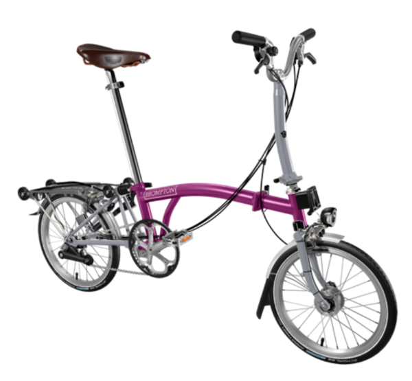 Brompton M-Type | Magenta/Grey | 6 Speed