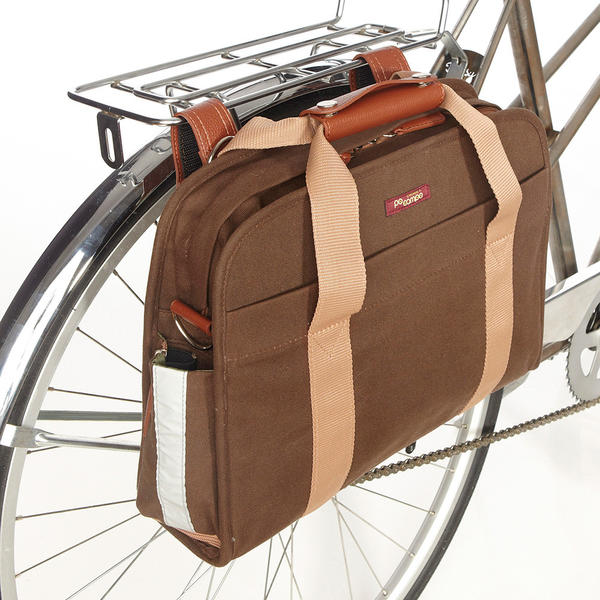 Po Campo Loop Pannier Color: Umber Waxed Canvas
