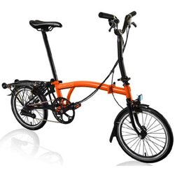 Brompton M-Type Black Edition | Orange | 6 Speed