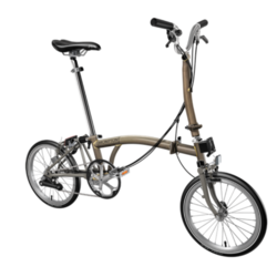 Brompton H-Type Superlight | Raw Lacquer/Titanium | 6 Speed