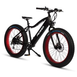 Pedego Trail Tracker | Black | 48V 14aH | Red Rims