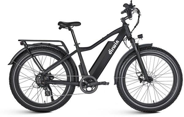 Dirwin Seeker Fat Tire Electric Bike - Black