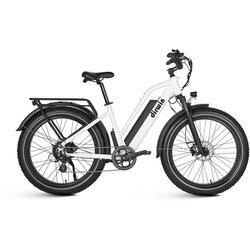 Dirwin Seeker Step-Thru Fat Tire Electric Bike - White