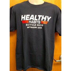 Healthy Habits Custom Women's Navy T-shirt