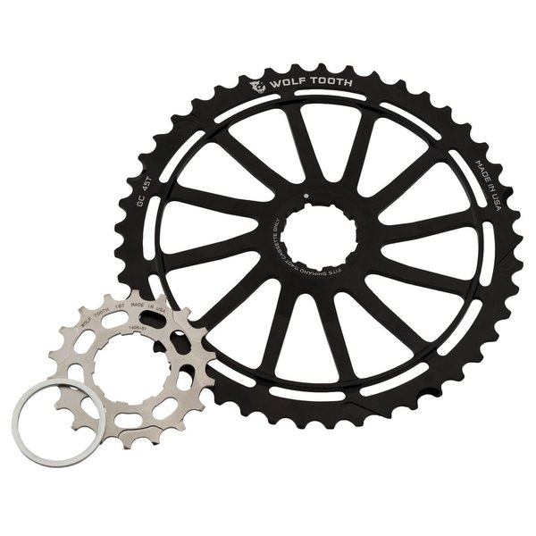Wolf Tooth Components Wolf Tooth, GC45, Cog set, includes a 45T and an 18T cogs, for Shimano 11-40T/11-42T 11 sp. cassettes