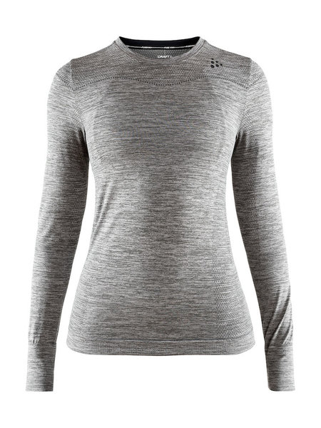 Craft W's Fuseknit Comfort RN LS - Dk Grey Melange