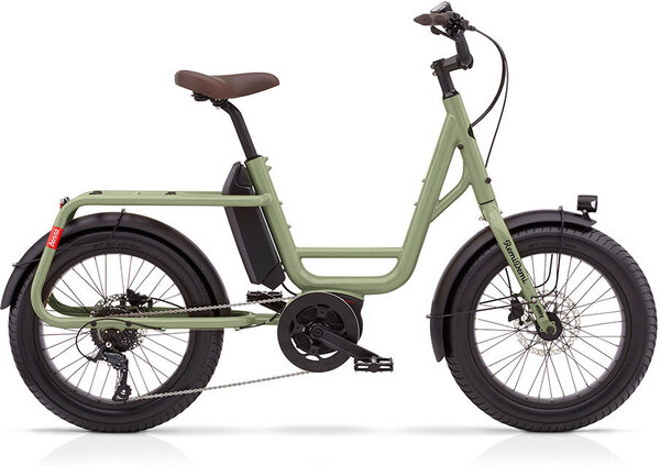 Benno Bikes REMIDEMI PERFORMANCE 65nm 400wh STEP THROUGH OLIVE GREEN REG