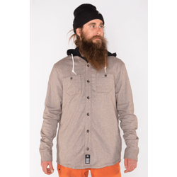 Armada Reading Flannel Hoodie - Granite