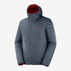 Salomon Drifter Loft Hoodie M's - Ebony/Biking Red