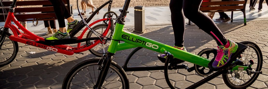 ElliptiGO long stride and short stride stand up bicycles