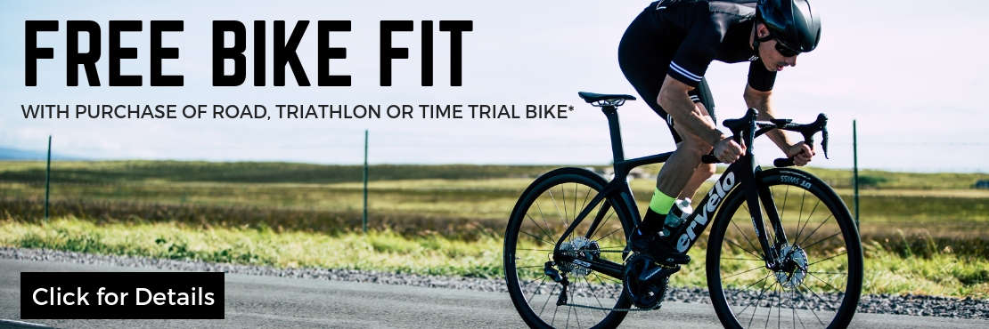 Free Bike Fit with Purchase of Road, Triathlon or Time Trial Bike