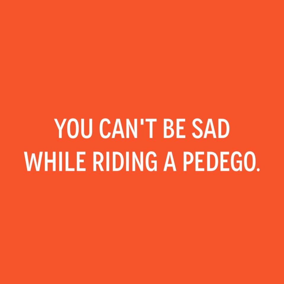 Can't Be Sad on a Pedego