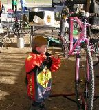 Cameron has always been interested in bikes!